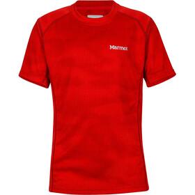 Marmot Cyclone T-shirt Drenge, team red hide